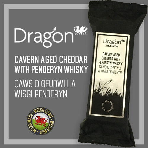 Welsh Slate Cavern Aged Cheddar with Penderyn whisky