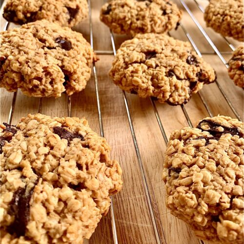 Oat and chocolate cookies